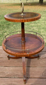Heirloom Quality Round Weiman 2 Tier Table 435 7202