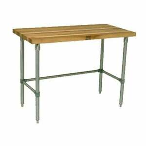 John Boos Hnb07 Work Table Wood Top 36 w X 30 d