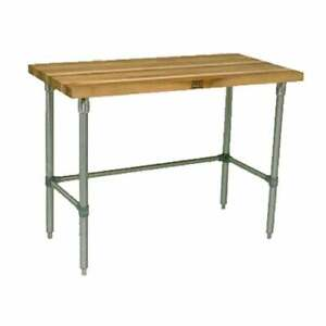 John Boos Hnb10 Work Table Wood Top 72 w X 30 d