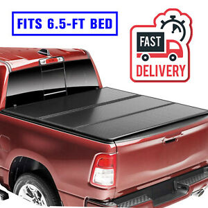 6 5 Ft For 02 18 Dodge Ram 1500 2500 3500 Tri Fold Pickup Truck Bed Hard Cover