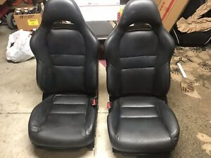 02 06 Acura Rsx Oem Black Leather Front Rear Seats Completed Assy W hardware