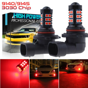 2x 9005 3030 Chip High Power Red Led Projector Fog Light Driving Bulbs Drl Lamp
