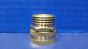 Brass Garden Hose Swivel Connector 3 4 Female Ght X 3 4 Male Ght Hose Fitting