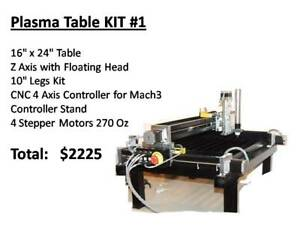 Small Cnc Plasma Cutting Table 16 X 24 solo kit 700