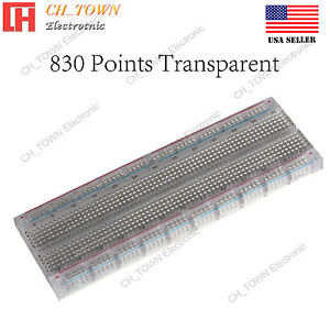 830 Tie Point Breadboard Solderless Pcb Transparent Mb 102 Mb102 For Arduino Usa