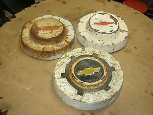 3 1960s 1970 S 10 5 Chevrolet Chevy C10 1 2 Ton Truck Dog Dish Hubcaps Lot