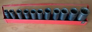 Matco Tools Sae 1 2 Drive 11 Piece 6 Point Deep Impact Socket Set In Tray