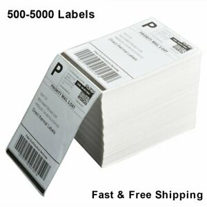 For Rollo Zebra Fanfold 4x6 Perforated Direct Thermal Address Shipping Labels