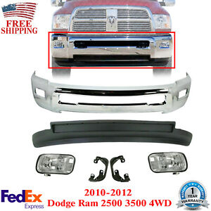 Front Bumper Chrome Valance Fog Bracket For 2010 2012 Dodge Ram 2500 3500 4wd