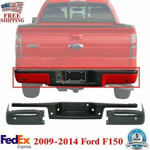 Rear Step Bumper Pad end Caps Driver Passenger Side 2009 2014 Ford F 150