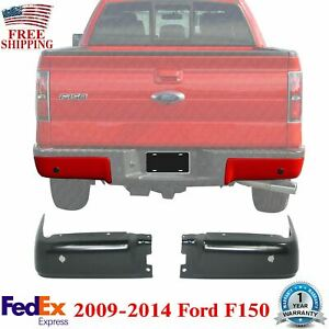 Rear Bumper End Caps Left Driver And Right Passenger Side 2009 2014 Ford F 150