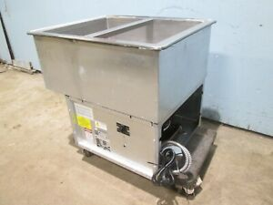 atlas Metal Hd Commercial nsf Refrigerated 2 Pans drop in Cold Well Insert