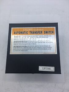 Lyght Power Systems 30 Amp Transfer Switch Lpt30e European