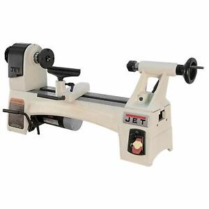 Jet 10 Inch By 15 Inch Variable Spindle Speed Woodworking Mini Lathe open Box