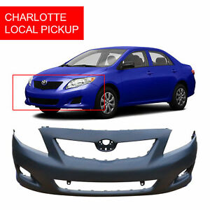 Primed Front Bumper For 2009 2010 Toyota Corolla Base Ce Le Xle To1000343 Clt