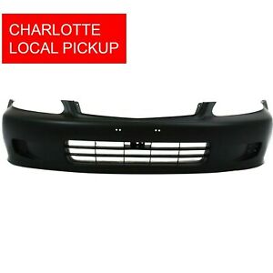Primed Front Bumper Cover For 1999 2000 Honda Civic Coupe Sedan Ho1000184 Clt