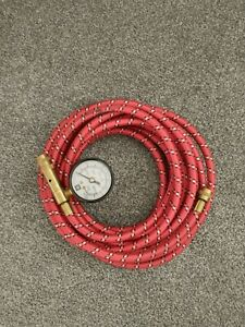 Gm On Board Air Compressor Red Air Hose Tire Inflator Gauge Great Condtion