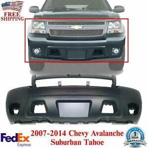 Front Bumper Cover Primed For 2007 2014 Chevrolet Avalanche Suburban Tahoe