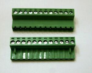 12 Pin 5mm Female Male Connector Pair Terminal Block Mating Set