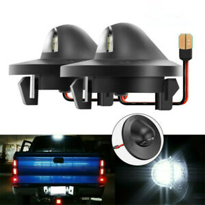 2x Led License Plate Light Replacement For Ford F150 F250 F350 1990 2014