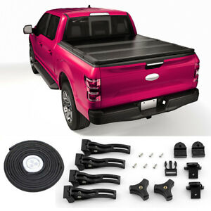 5ft Short Bed Hard Solid Tri Fold Tonneau Cover For 2005 2021 Nissan Frontier
