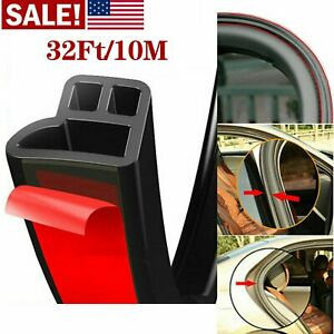 32ft L Shape Car Door Trunk Seal Strip Rubber Weather Strip Edge Car Accessories