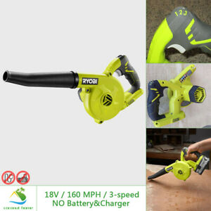 Ryobi 18v Blower Compact Workshop 160 Mph 3 Speed Lightweight Cordless Tool Only
