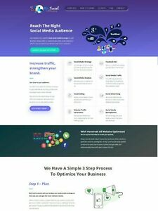 Social Media Marketing Services Provider Website Business In A Box