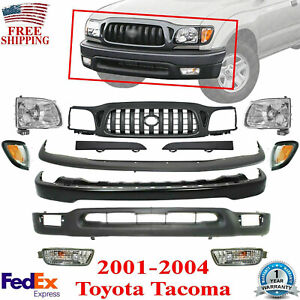 Front Bumper Primed Complete Kit With Grille For 2001 2004 Toyota Tacoma