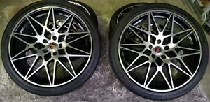 20 Inch Revolution Racing Rims And Tires Package Low Profile Tires
