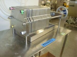 Ertel Alsop Filter Press 8 Md 8s 8 Stainless Steel With Pump Year 2013