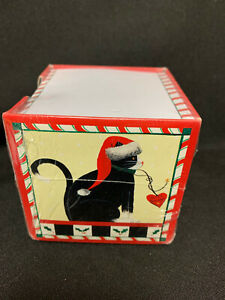 Note Paper Cube With Cat And Christmas Or Holiday Design New Sealed