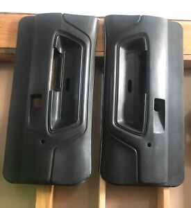 1970 1974 Pair Dodge Challenger Original Black Door Interior Panels Oem Mopar