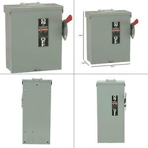 100 Amp 240 volt Fusible Outdoor General duty Safety Switch