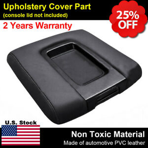 Leather Center Console Lid Armrest Cover For Silverado Chevy Gmc Sierra 2014 19