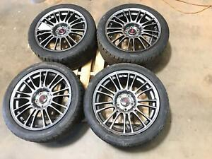 08 14 Subaru Impreza Wrx Sti 18 18 Spoke Wheels Rims Tires Wheel Set Oem