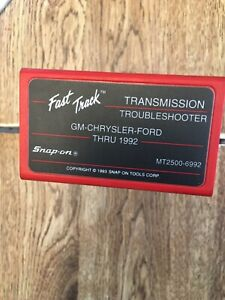 Snap On Domestic Transmission Troubleshooter Cartridge Mt2500 6992 Gm Ford 92