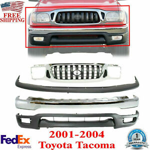 Front Bumper Chrome Valance Filler Grille For 2001 2004 Toyota Tacoma