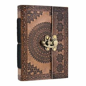 Christmas Gifts Leather Journal Diary Writing Sketch Record Book Notebook