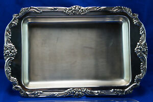 Reed Barton King Francis 1668 Buffet Server W Glass Liner 19 X 12