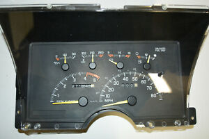 1994 Chevrolet Gmc 1500 Truck Speedometer Instrument Cluster Gauges 16193695