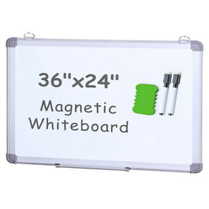 Viz pro Small Dry Erase White Board magnetic Hanging Whiteboard 36 X 24 Inch