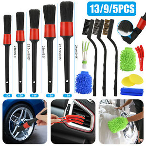 13 9 5pcs Car Detail Brush Wash Auto Detailing Cleaning Kit Engine Wheel Brushes