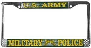 U S Army Military Police License Plate Frame Free Screw Caps With This Frame
