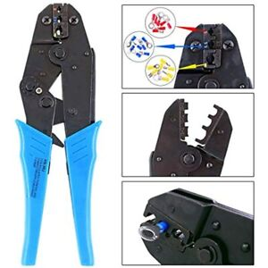 Professional Insulated Wire Terminals Connectors Ratcheting Crimper Tool For
