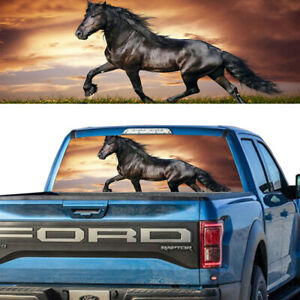 Noble Black Horse Rear Window Graphic Decal Tint Sticker