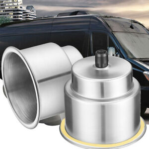 2x Stainless Steel Cup Drink Holders For Marine Boat Car Truck Camper Rv W Drain