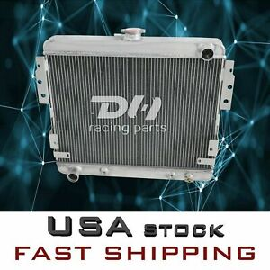 Polished New 3row Aluminum Radiator 1975 1978 Ford Mustang Ii 5 0l V8 Stamp Tank