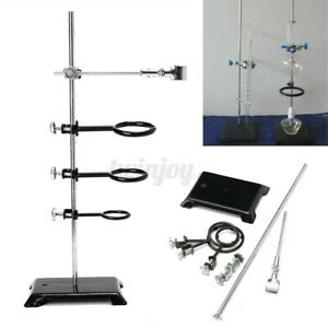 24 Laboratory Retort Stands Support Chemistry Supplies Lab Clamp Flask