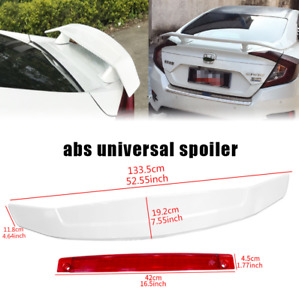 Universal 51 Dragon 1 Glossy White Abs Gt Rear Trunk Adjustable Spoiler Wing
